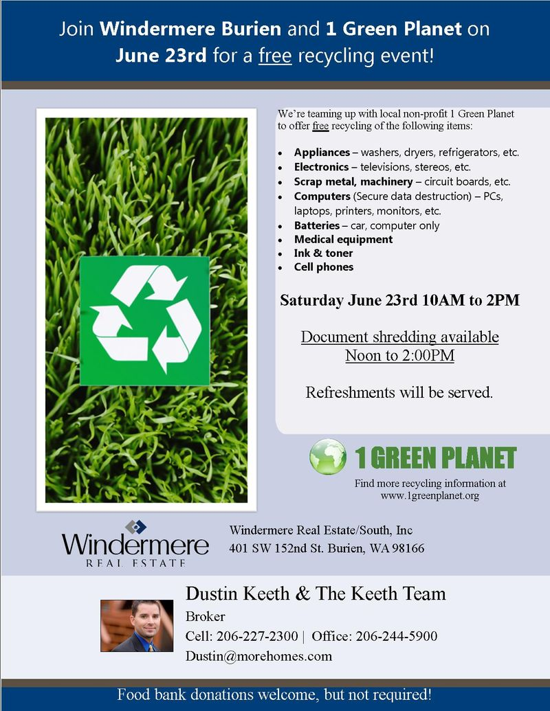 Customizeable Recycle Flyer
